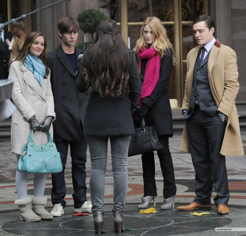 Leighton, Chace, Blake, and Ed filming