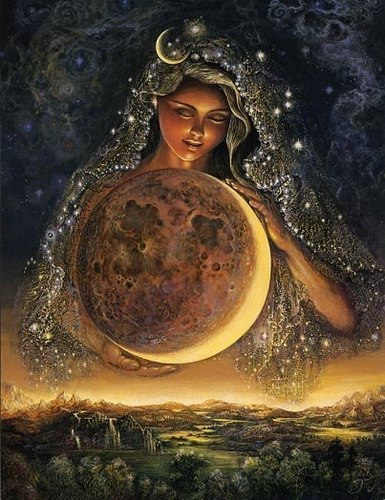 Moon Goddess - moon Photo