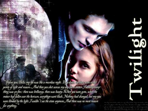 Edward Cullen wallpaper possibly containing a sign and anime titled Quote