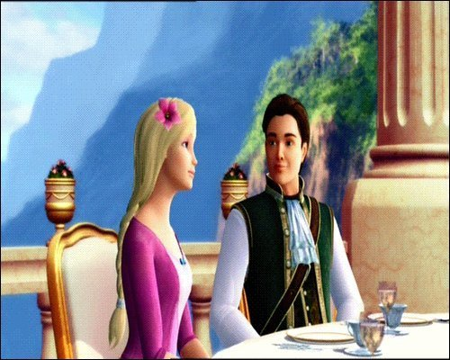 Barbie as the island princess wallpaper possibly with a dinner table called Ro