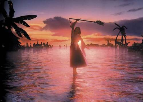Final Fantasy X wallpaper with an atlantic herring and a pacific sardine entitled Yuna