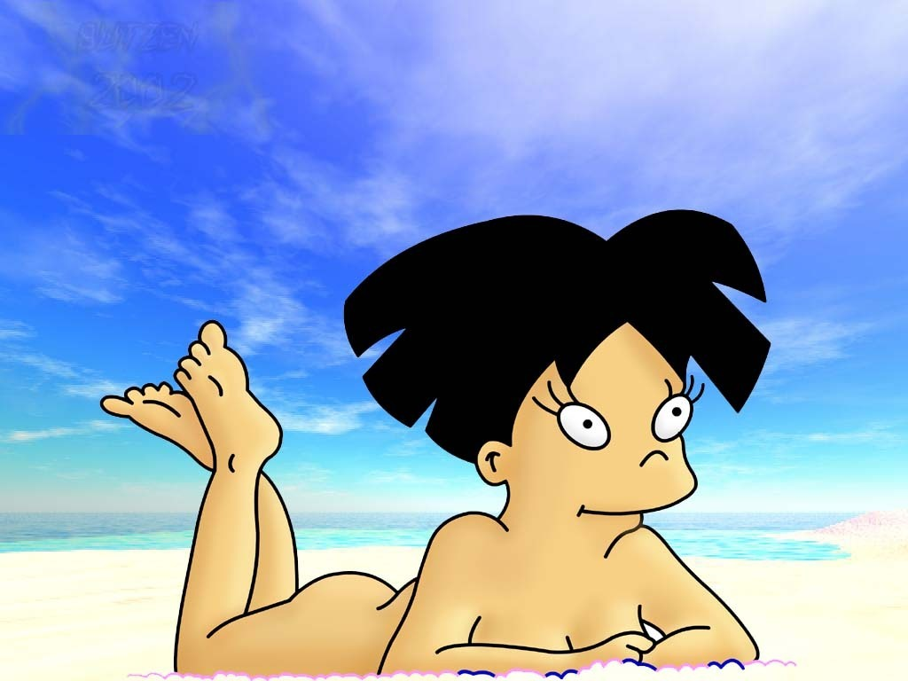 beach amy  - futurama wallpaper