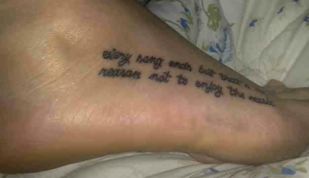 my new tattoo ellie's quote