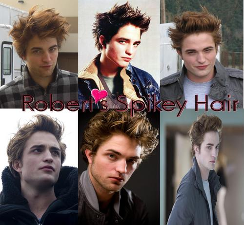robert's spikey hair
