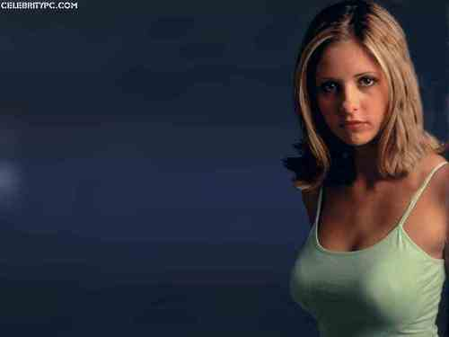 뱀파이어 해결사 바탕화면 containing a portrait entitled sarah michelle gellar