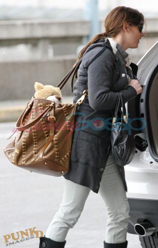 Ashley Greene leaving Vancouver