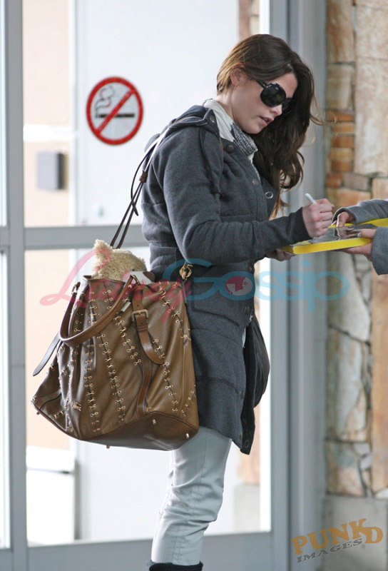 Ashley Greene leaving Vancouver
