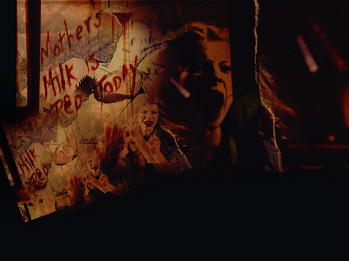 Buffy the Vampire Slayer wallpaper probably with a sign, a fire, and a fire entitled Conversations With Dead People (7x07)