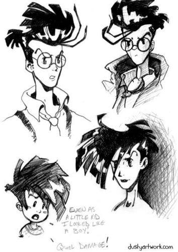 Cybersix aka Adrien sketch