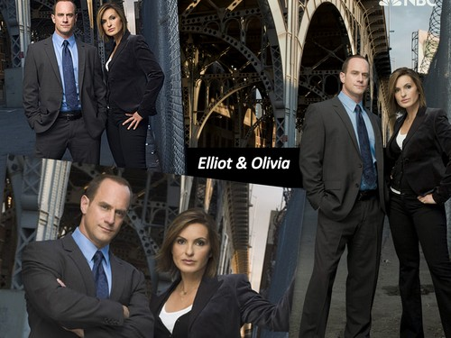 Elliot and Olivia wallpaper with a business suit, a well dressed person, and a suit titled Elliot & Olivia