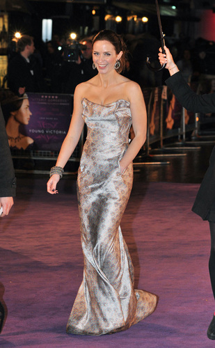Emily Blunt at 'The Young Victoria' premiere