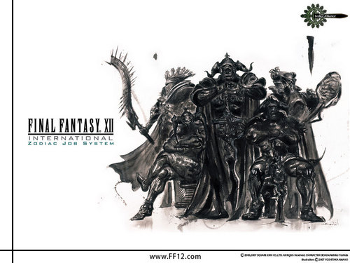 Final Fantasy Wallpaper Probably Containing A Triceratops Called FF XII