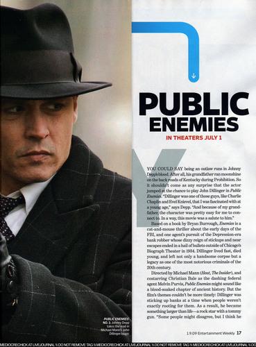Jan. 2009 Entertainment Weekly magazine artikel