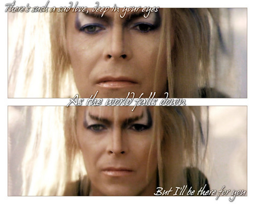 Labyrinth Hintergrund containing a portrait entitled Jareth