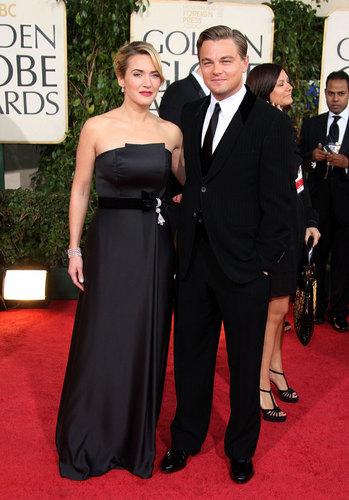 Kate Winslet & Leonardo DiCaprio at the Golden Globes