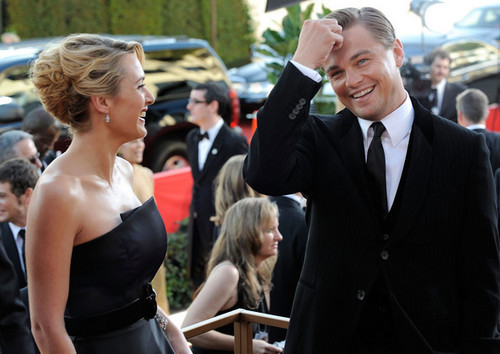 Kate Winslet & Leonardo DiCaprio at the Golden Globes