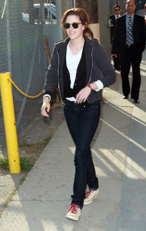 Kristen at the Jimmy Kimmel 显示