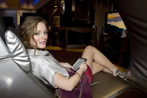Leighton Meester at the Sony Store in NYC