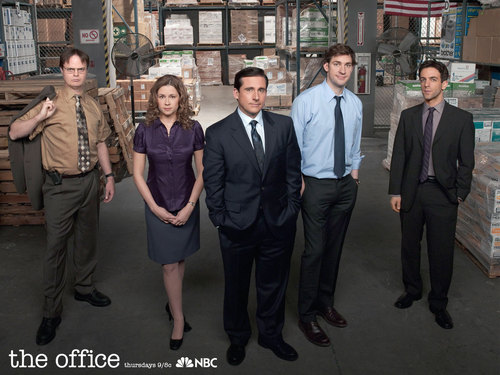 The Office wallpaper with a business suit, a suit, and a dress suit titled Office Cast 2009