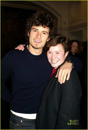 Orlando Bloom and his sister (Venison Gallery in London)