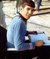 Spock on set