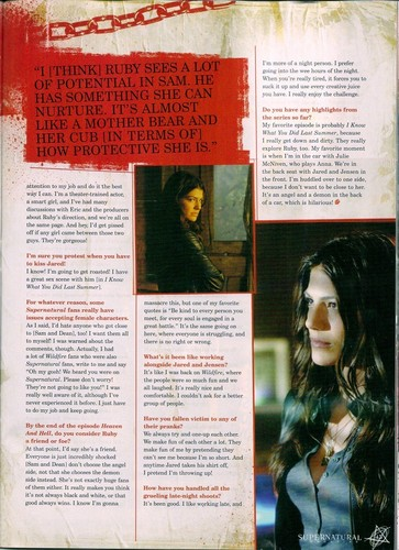 Supernatural Magazine scans (Genevieve Cortese)
