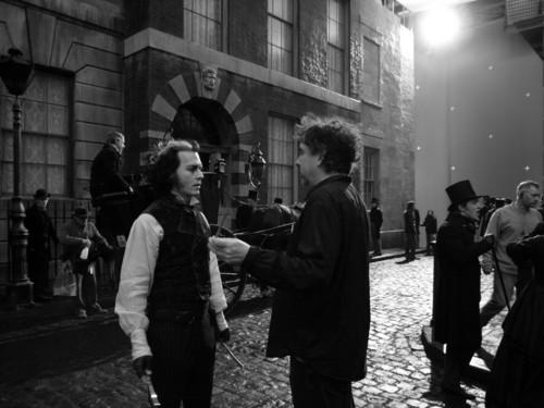 Sweeney Todd behind the scenes