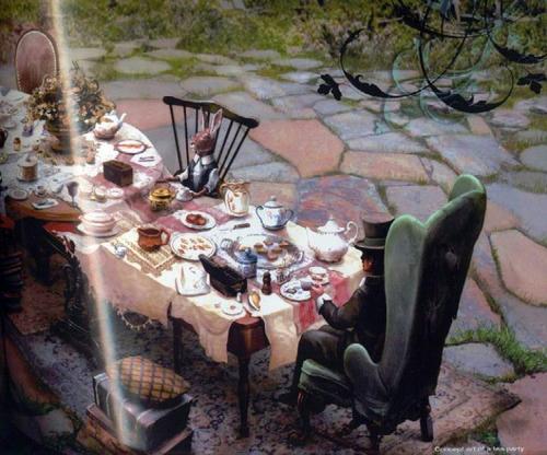 Alice in wonderland dining room