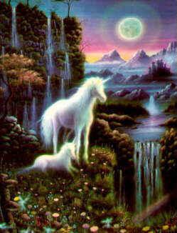Unicorn On The Mounatin Edge