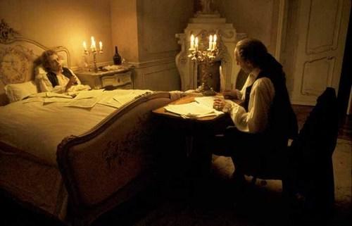 Wolfang and Salieri composing