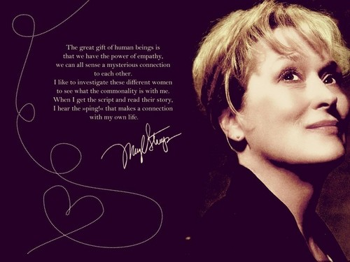Meryl and Sandy wallpaper probably with a portrait entitled all about meryl streep