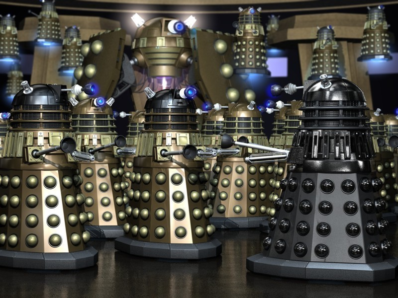 Daleks the creatures of doctor who wallpaper 4840071 - Doctor who dalek pics ...