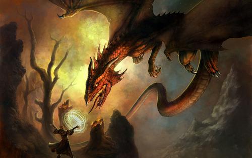 dragons fond d'écran titled fantasy-dragon