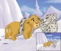 the snow leopard and nala - the-lion-king photo