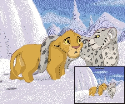 the lion king wallpaper entitled the snow leopard and nala