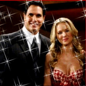 The Young and the Restless wallpaper probably containing a business suit and a portrait called Brad & Sharon