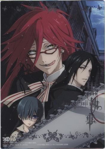 Kuroshitsuji wallpaper entitled Ciel, Sebastian and Grell