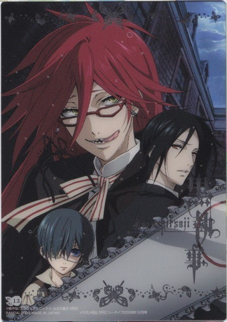ciel and sebastian. Ciel, Sebastian and Grell