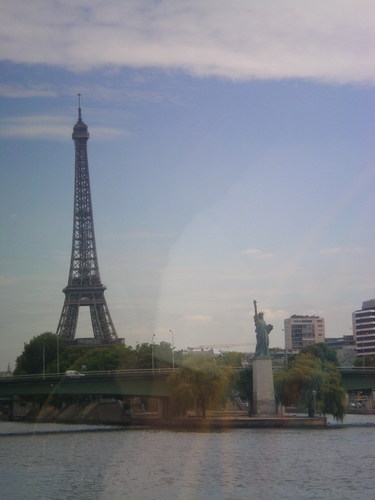 Eiffel Tower and Statue of Liberty