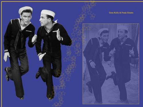 Frank Sinatra and Gene Kelly 壁紙