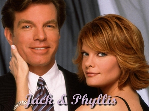 The Young and the Restless wallpaper containing a portrait entitled Jack Abbott & Phyllis Summers