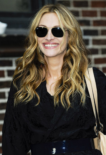 """Julia Roberts visits """"Late mostrar with David Letterman March 17th 2009"""