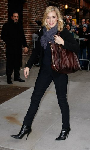 Kate @ Late mostra w/ David Letterman Taping