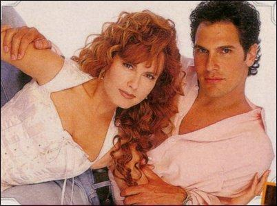 The Young and the Restless wallpaper containing a portrait titled Lauren Fenmore & Brad Carlton