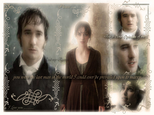 Pride and Prejudice wallpaper possibly with a portrait entitled Lizzy and Mr. Darcy