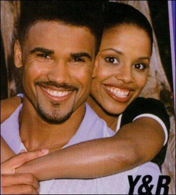 Malcolm Winters & Callie played by the late Michelle Thomas - the-young-and-the-restless Photo