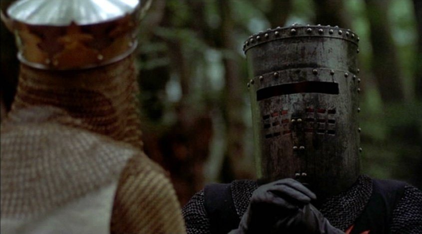 monty python and the holy grail satire essay The 'witch scene', from monty python and the holy grail, follows some very illogical arguments it is an argument that has gone very wrong from the beginning in this particular scene, the villagers along with a knight, come up with an argument as to why the woman is a witch.