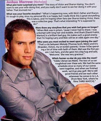 The Young and the Restless wallpaper probably with a green beret, a newspaper, and anime entitled Nick Newman-Joshua Morrow