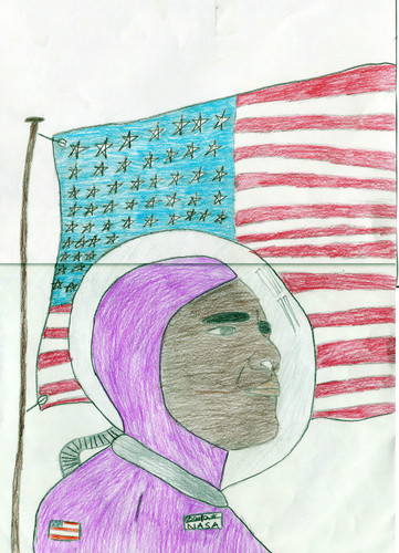 Obama Astronaut - barack-obama Fan Art