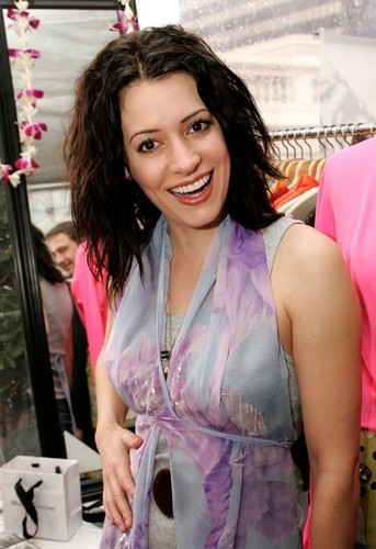 Paget Brewster wallpaper possibly with a nightwear and a portrait titled Paget Brewster